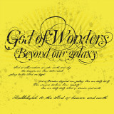 God of Wonders (Yellow) Wall Decal