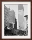 World Trade Center Twin Towers Construction, New York City, New York, c.1971 Framed Photographic Print