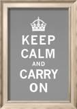 Ruhig bleiben und weitermachen Poster