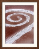 Robert Smithson's Spiral Jetty in the Great Salt Lake Framed Photographic Print