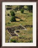 13th Century Tyuonyi Pueblo Ruins Framed Photographic Print by Pat Vasquez-cunningham
