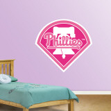 Pink Phillies Logo   Wall Decal