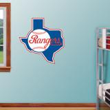 Texas Rangers Throwback Logo Wall Decal
