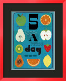 Five a Day Poster by Jessie Ford