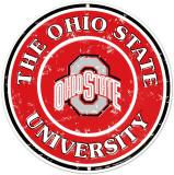 Universidade Estadual de Ohio Placa de lata