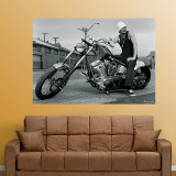 Kid Rock Motorcycle Mural Wall Decal
