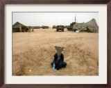 A Suspected Muqtada Al-Sadr Follower at an Us Army Base Outside Najaf Framed Photographic Print