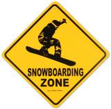 Snowboarding Zone Plaque en métal
