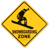 Snowboarding Zone Cartel de metal