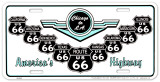 Route 66 V Shields Tin Sign