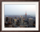The Empire State Building and the Manhattan Skyline Framed Photographic Print