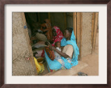Sudanese Women Do Handcraft Training Framed Photographic Print