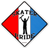 Skater Pride Tin Sign
