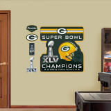 2010 NFL Superbowl Champion Green Bay Packers Logo Wall Decal