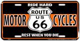 Route 66 Biker Blikskilt