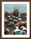 A Group of Scavenger Coal Workers Framed Photographic Print