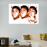 Ali Face Illustration Mural Wall Decal