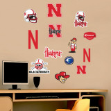 Nebraska - Fathead Junior Logosheet   Wall Decal