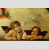 Detail of Sistine Madonna Wall Decal