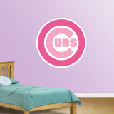 Pink Cubs Logo   Wall Decal