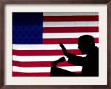 President Bush Speaks in Favor of Republican Gubernatorial Candidate Van Hilleary Framed Photographic Print