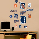 Tigers - Fathead Junior Logosheet   Wall Decal