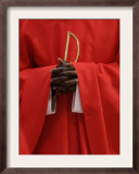 A Cardinal Puts His Hands Together Framed Photographic Print