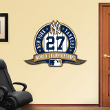 Yankees 27th World Series Logo Wall Decal