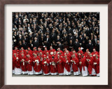 Cardinals, in Red, Participate in the Funeral Mass for Pope John Paul II Framed Photographic Print