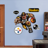 Pittsburgh Steelers Steamroller Steeler Wall Decal