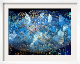 Performers on the Ice During the Opening Ceremonies of the 2002 Winter Olympics in Salt Lake City Framed Photographic Print