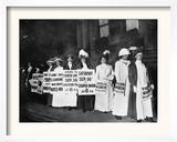 A Line of Women Rally for Women's Suffrage Framed Photographic Print
