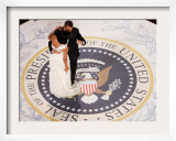 President Barack Obama and First Lady Michelle Dance, Commander in Chief Ball, January 20, 2009 Framed Photographic Print