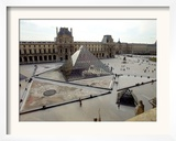 A View of the Louvre Pyramid, and the Southern Wing of the Louvre Building Framed Photographic Print