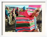 Aymara Indian Farmers Celebrate the Feast of the Cross Framed Photographic Print