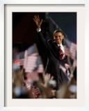 President-Elect Barack Obama Walking onto Stage to Deliver Acceptance Speech, Nov 4, 2008 Framed Photographic Print