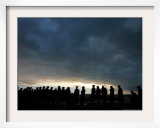 Israeli Rabbi Funeral, Jerusalem, Israel Framed Photographic Print by Oded Balilty