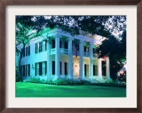 The Governor's Mansion is Shown August 30, 2000, in Austin, Texas Framed Photographic Print by Harry Cabluck