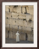 Pope Benedict XVI Stands Next to the Western Wall, Judaism's Holiest Site in Jerusalem's Old City Framed Photographic Print
