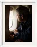 President Bush Looks out the Window of Air Force One Over New Orleans Framed Photographic Print