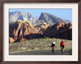 Two Cyclists, Red Rock Canyon National Conservation Area, Nevada, May 6, 2006 Framed Photographic Print by Jae C. Hong