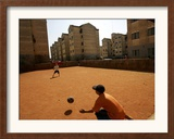 Children Play Soccer in Novo Mundo Slum, in Sao Paulo, Brazil Framed Photographic Print
