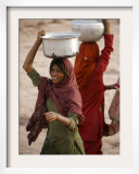 Woman Smiles after Collecting Drinking Water, on the Outskirts of Islamabad, Pakistan Framed Photographic Print