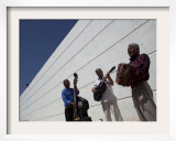 Volcanes Del Norte, a Band Formed by Inmates, Perform Next to Wall Inside Ciudad Juarez City Prison Framed Photographic Print