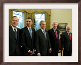 All Living Presidents and President-elect Barack Obama, January 7, 2009 Framed Photographic Print