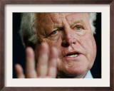 Senator Edward Kennedy Speaks in News Conference on Capitol Hill to Discuss Hate Crime Legislation Framed Photographic Print