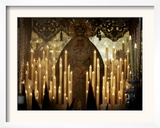 Penitents Follow La Macarena During a Holy Week Procession Framed Photographic Print