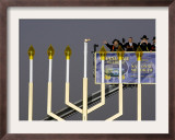 White House Chief of Staff and Rabbis Light the National Hanukkah Menorah Framed Photographic Print