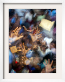 Tsunami Victims at a Relief Camp Framed Photographic Print