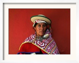 A Bolivian Kallawaya Framed Photographic Print